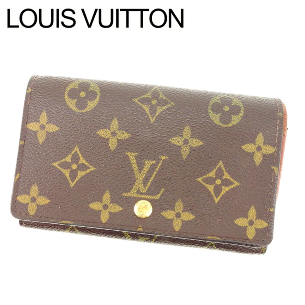 【中古】 ルイヴィトン Louis Vuitton L字ファスナー財布 二つ折り メンズ可 ポルトモネビエトレゾール モノグラム M61730 ブラウン モノグラムキャンバス (あす楽対応)激安 Y2066 .