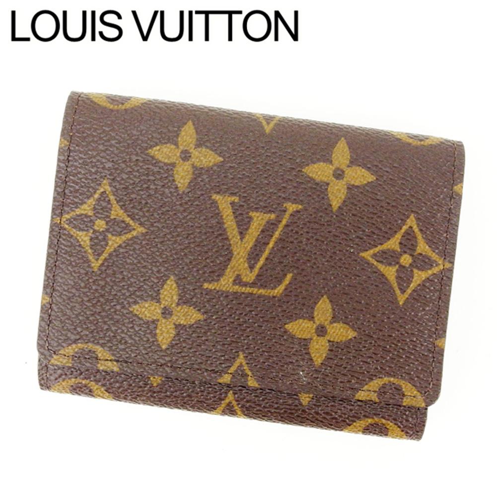 【中古】 ルイヴィトン Louis Vuitton 名刺入れ /メンズ可 /アンヴェロップカルトドゥヴィジット モノグラム M62920 PVC×レザー (あす楽対応)(美品・即納) Y212