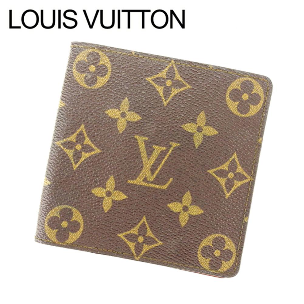 【中古】 ルイヴィトン Louis Vuitton 二つ折り札入れ レディース ブラウン T14727 .