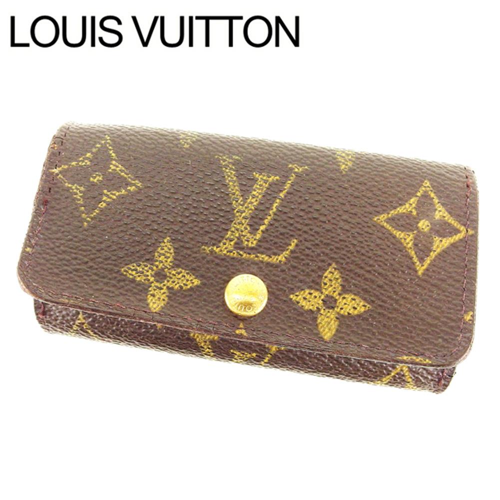 【中古】 ルイヴィトン Louis Vuitton キーケース 4連キーケース メンズ可 ミュルティクレ4 モノグラム M62631 ブラウン モノグラムキャンバス (あす楽対応)激安 T13540 .