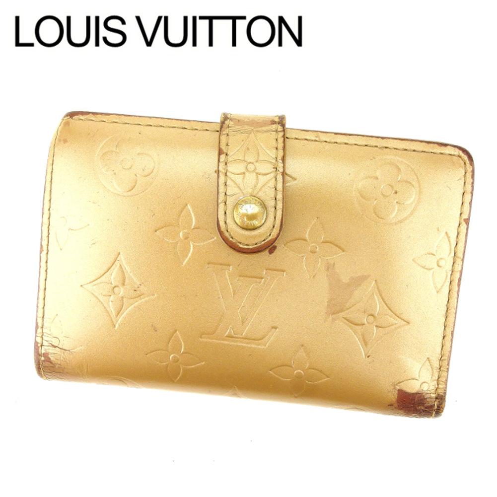 【中古】 ルイヴィトン Louis Vuitton がま口財布 二つ折り メンズ可 ポルトモネビエヴィエノワ モノグラムマット M65157 アンブレ(ベージュ) モノグラムマットレザー (あす楽対応)激安 Y2389 .