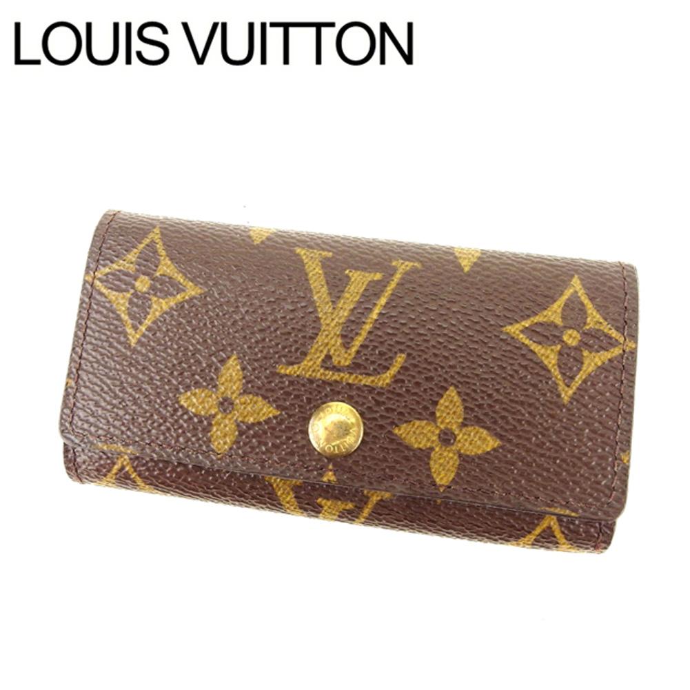 【中古】 ルイヴィトン Louis Vuitton キーケース 4連キーケース メンズ可 ミュルティクレ4 モノグラム M62631 ブラウン モノグラムキャンバス (あす楽対応) 良品 Y2470