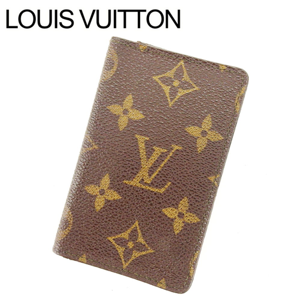 【中古】 ルイヴィトン Louis Vuitton カードケース 名刺入れ レディース ポシェットカルトヴィジット ブラウン PVC×レザ- T10629 .