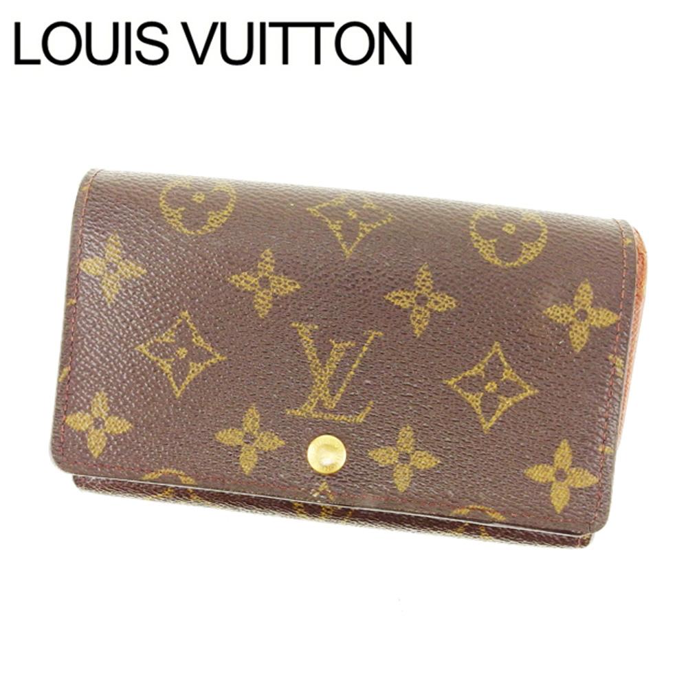 【中古】 ルイヴィトン Louis Vuitton L字ファスナー財布 二つ折り メンズ可 ポルトフォイユトレゾール モノグラム M61736 ブラウン モノグラムキャンバス (あす楽対応)人気 Y3018 .