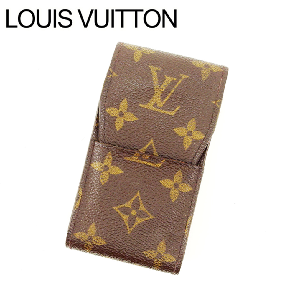 【中古】 ルイヴィトン Louis Vuitton シガレットケース タバコケース メンズ可 エテュイシガレット モノグラム M63024 ブラウン モノグラムキャンバス (あす楽対応)激安 Y3168