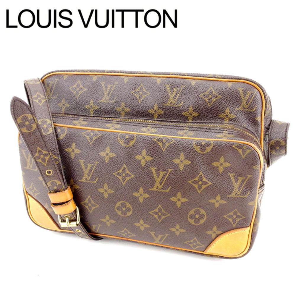 【中古】 ルイヴィトン Louis Vuitton ショルダーバッグ 斜めがけショルダー ナイル モノグラム レディース メンズ ブラウン M45244クリスマス プレゼント バック ブランド 人気 収納 在庫一掃 1点物 兼用 男性 女性 良品 T13408 .