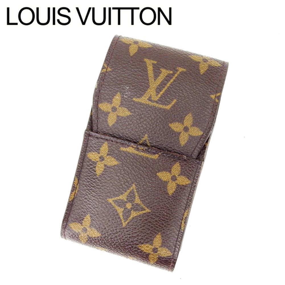 【中古】 ルイヴィトン Louis Vuitton シガレットケース タバコケース レディース エテュイシガレット モノグラム ブラウン モノグラムキャンバス 良品 Y3473