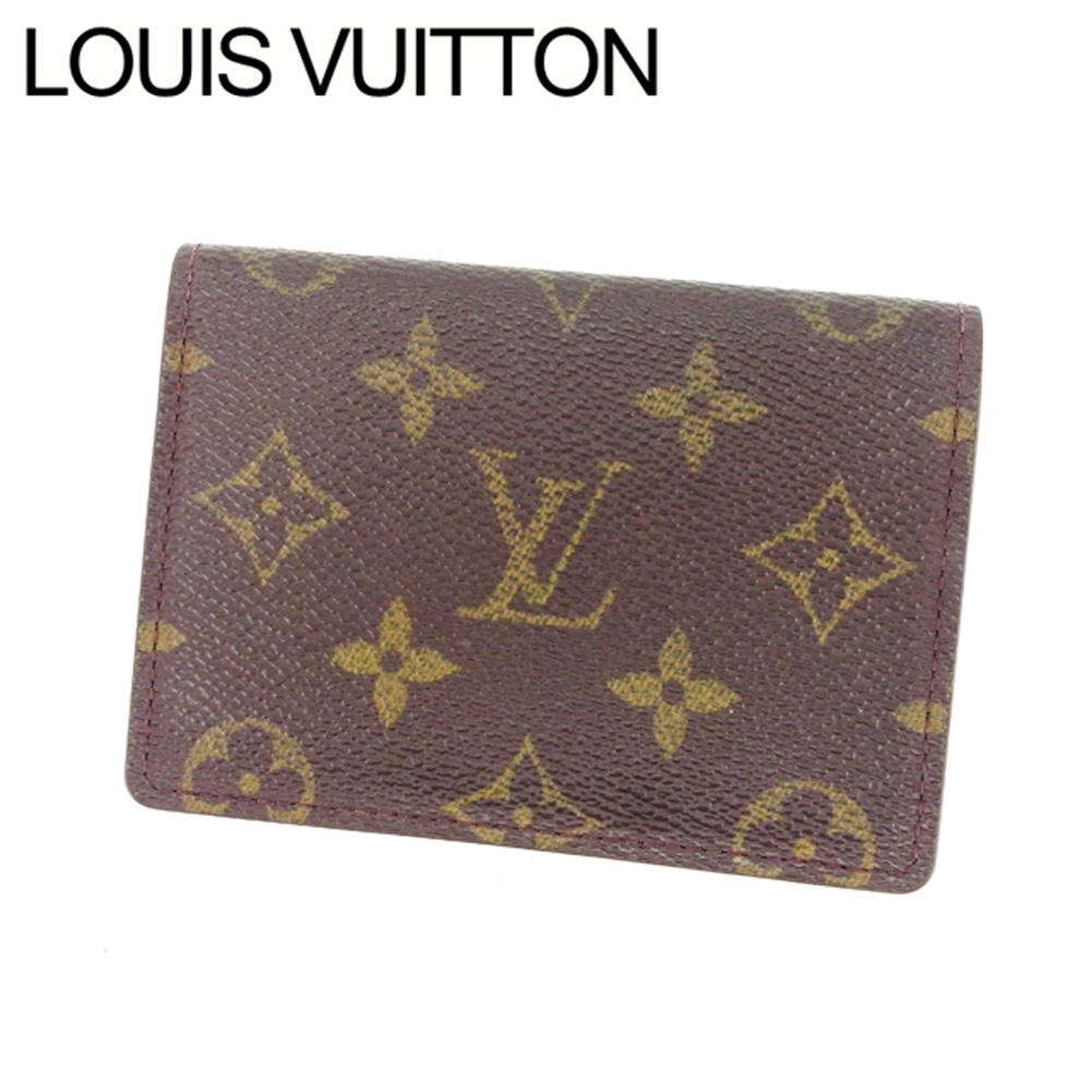 【中古】 ルイヴィトン LOUIS VUITTON 定期入れ レディース モノグラム PVC×レザー 激安 Y3741