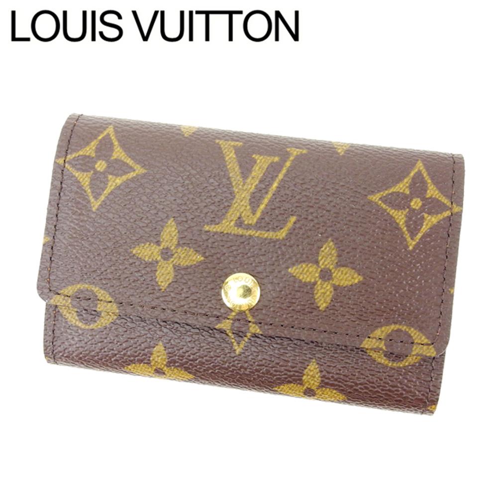 【中古】 ルイヴィトン Louis Vuitton キーケース 6連キーケース メンズ可 /ミュルティクレ6 モノグラム M62630 ブラウン PVC×レザー (あす楽対応)(良品) T11746 .