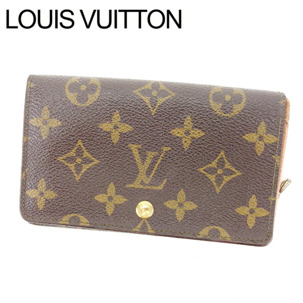 【中古】 ルイヴィトン Louis Vuitton L字ファスナー財布 二つ折り /メンズ可 /ポルトモネビエトレゾール モノグラム M61730 ブラウン PVC×レザー (あす楽対応)(激安・人気) Y551 .