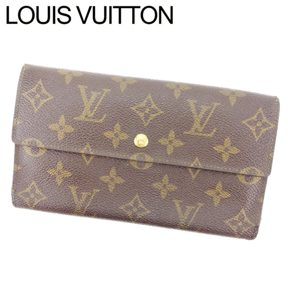 【中古】 ルイヴィトン Louis Vuitton 三つ折り財布 /メンズ可 /ポルトトレゾールインターナショナル モノグラム M61217 PVC×レザー (あす楽対応)人気 激安 Y811 .