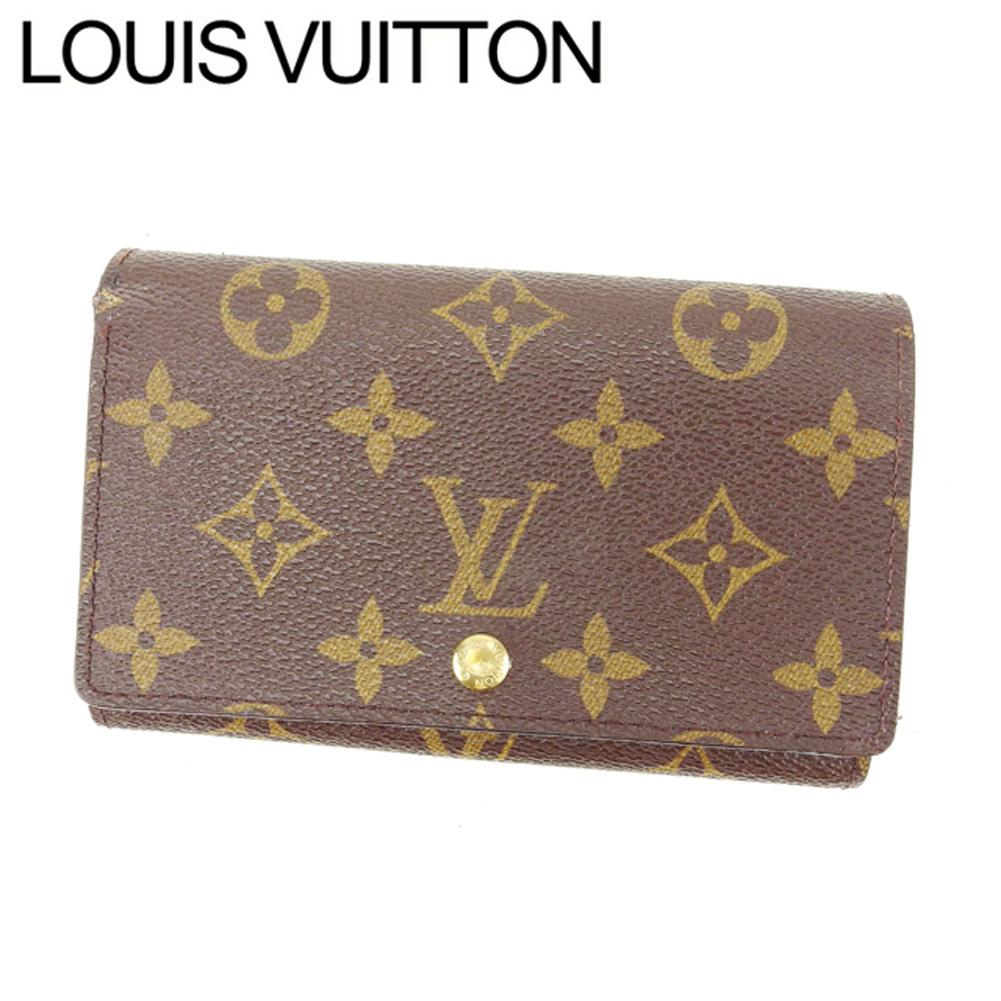 【中古】 ルイヴィトン Louis Vuitton L字ファスナー財布 二つ折り メンズ可 /ポルトモネビエトレゾール モノグラム M61730 ブラウン PVC×レザー (あす楽対応)人気 激安 Y952 .