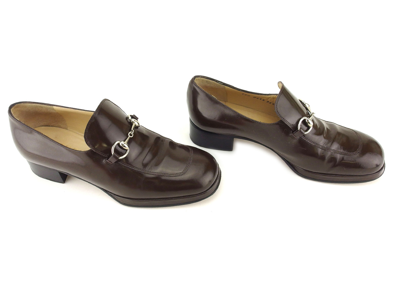 cb187047d Gucci GUCCI loafer shoes shoes Lady's ♯ 35 half C hose bit brown silver  leather popularity sale L2835. . Used - Acceptable. Details