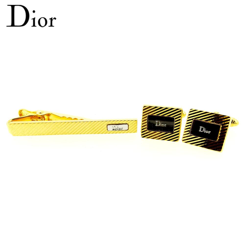 【スーパーセール】 【20%オフ】 【中古】 ディオール Dior カフス タイピン ネクタイピン メンズ カフリンクス ゴールド シルバー ゴールド&シルバー金具 T9609 .
