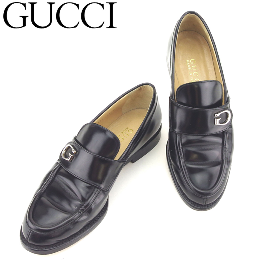 5d7bdffb7 Gucci Gucci loafer shoes shoes men s possible  36 black leather popularity  sale B975