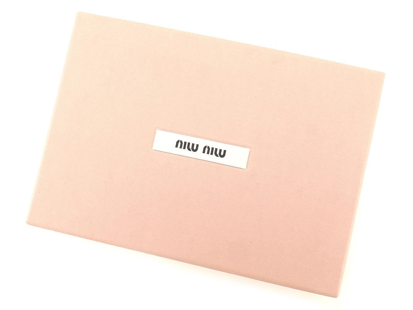 ミュウミュウ miu miu notebook cover system notebook Lady s agenda ribbon motif  yellow gold pink enamel leather popularity sale H589 cf1ba3762a98a