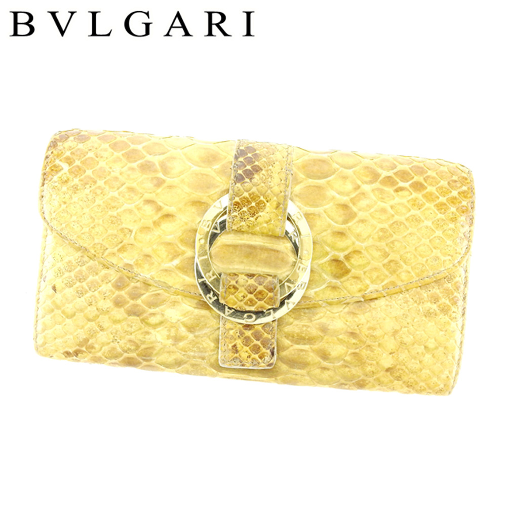 788b229ed1ab 【中古】 ブルガリ BVLGARI 長財布 ファスナー付き 財布 レディース メンズ 可 ダブルロゴリング