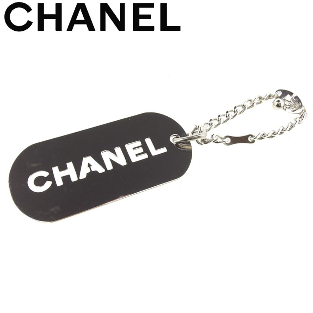 【中古】 シャネル CHANEL キーホルダー キーリング レディース メンズ  シルバー 美品 セール T8131 .