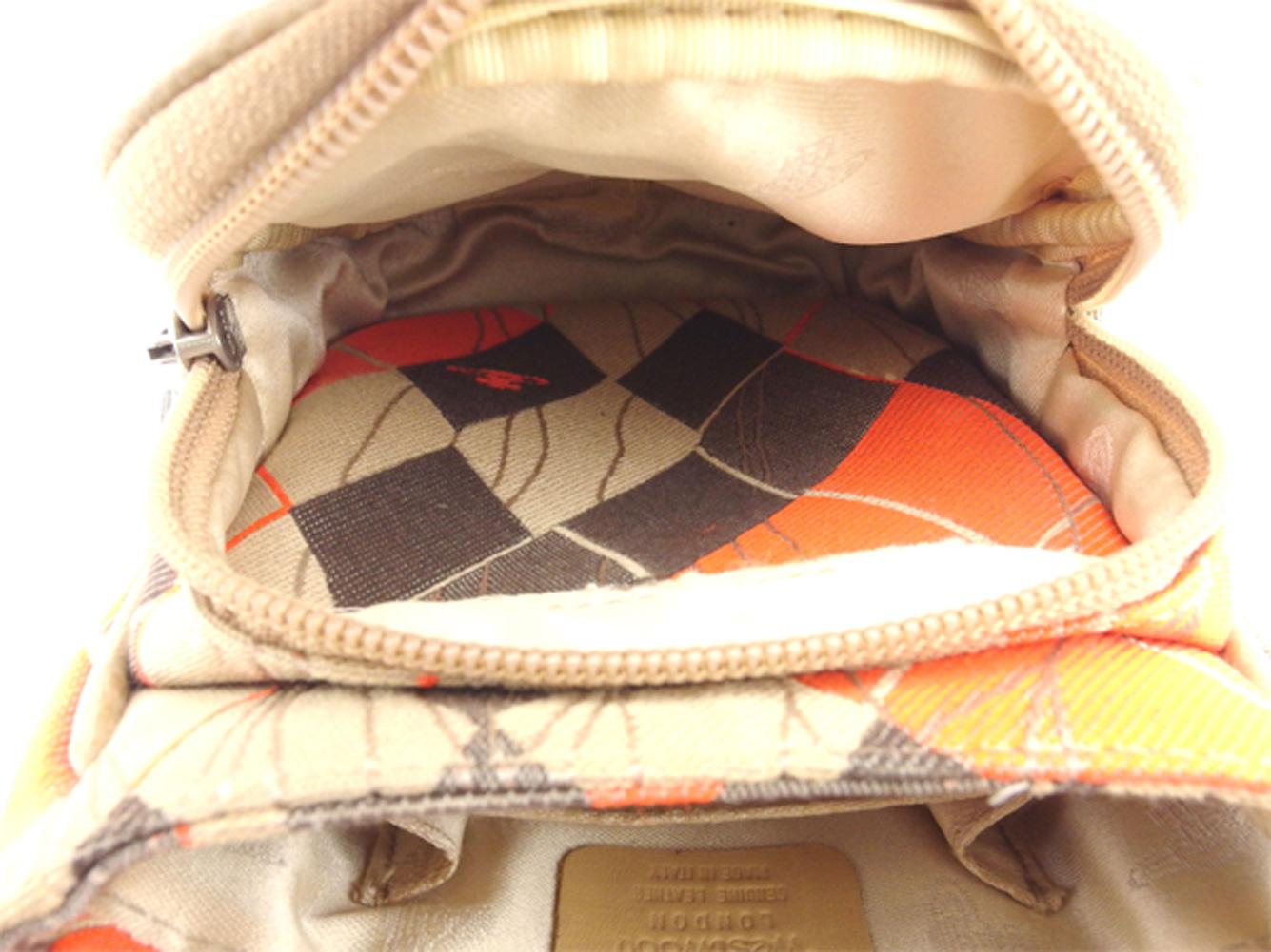 0186dadf4e22 ブラック系 オレンジ ベージュ アーガイル オーブ付き メンズ レディース ...