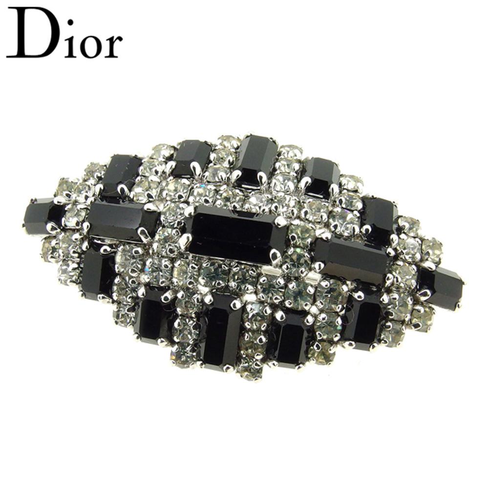 【スーパーセール】 【20%オフ】 【中古】 ディオール Dior ブローチ アクセサリー レディース シルバー ブラック T8939 .