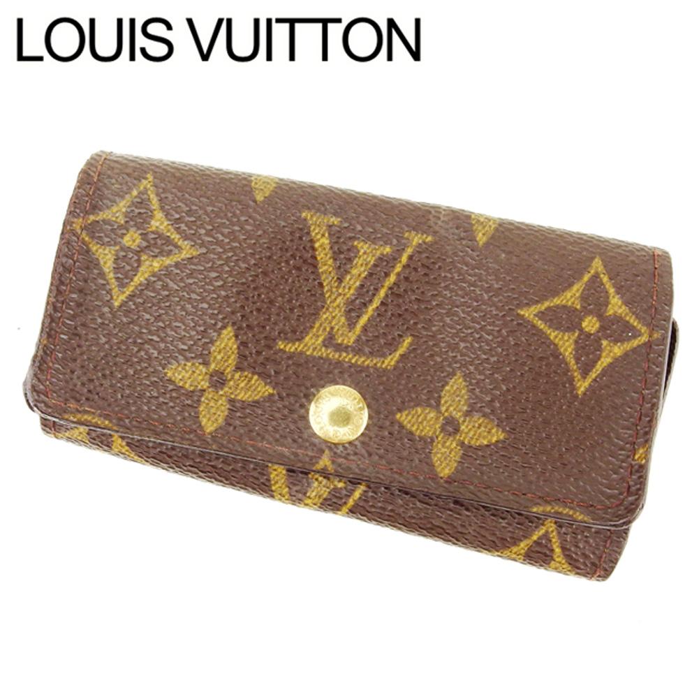 【中古】 ルイ ヴィトン Louis Vuitton キーケース 4連キーケース レディース メンズ ミュルティクレ4 ブラウン モノグラムキャンバス Q526