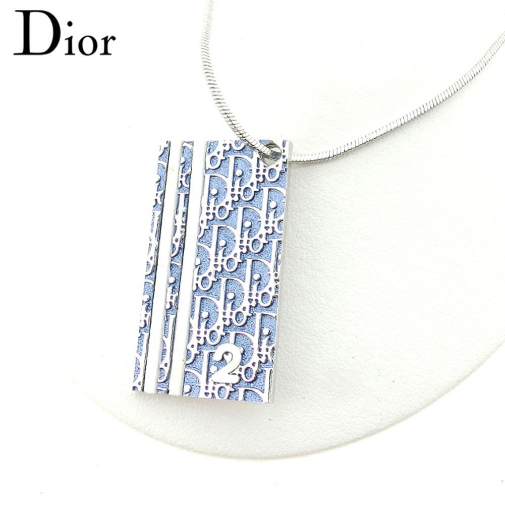 【スーパーセール】 【20%オフ】 【中古】 ディオール Dior ネックレス アクセサリー レディース シルバー ブルー H650 .