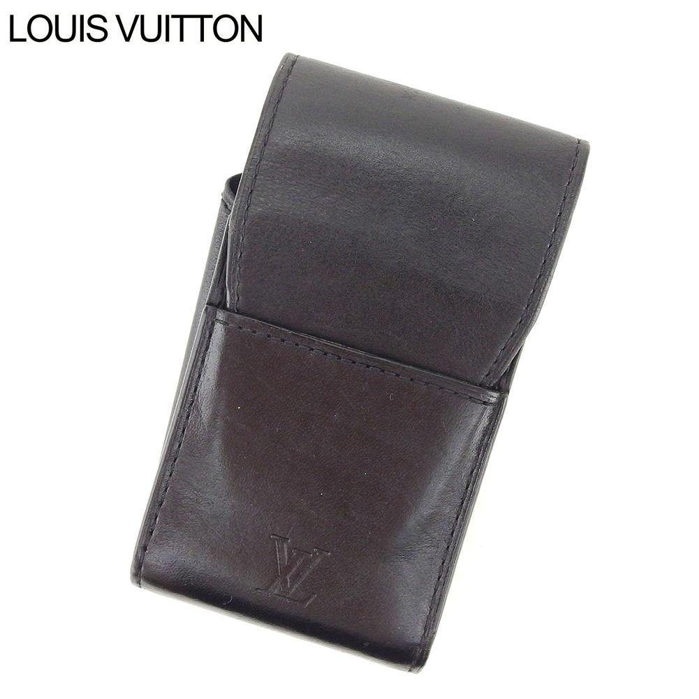 【中古】 ルイ ヴィトン Louis Vuitton シガレットケース タバコケース メンズ エテュイシガレット ノマド ブラック ノマドレザー 人気 良品 T8733