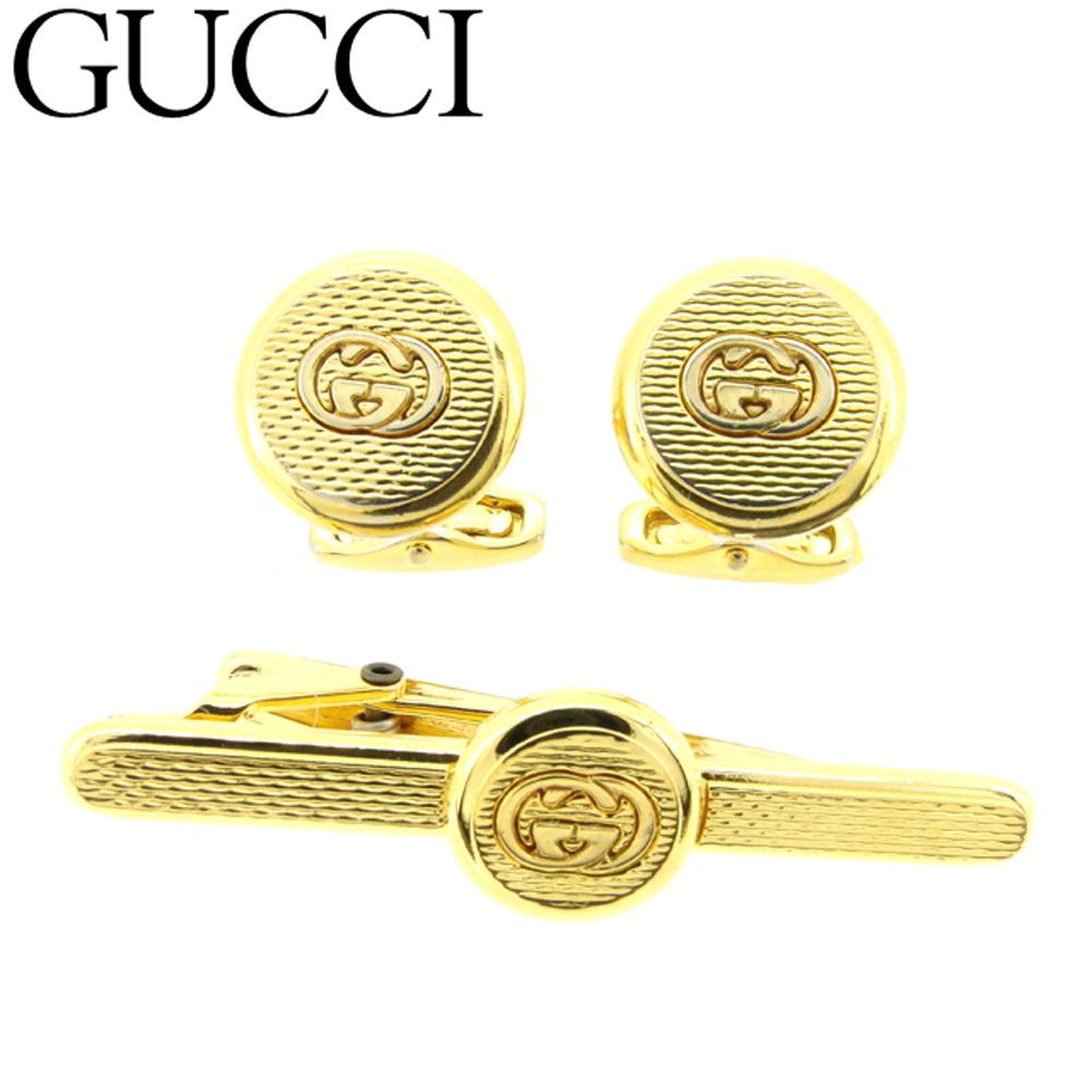 カフス タイピン グッチ 人気 【スーパーセール】 【20%オフ】 【中古】 グッチ Gucci カフス タイピン メンズ ゴールド T9044 .