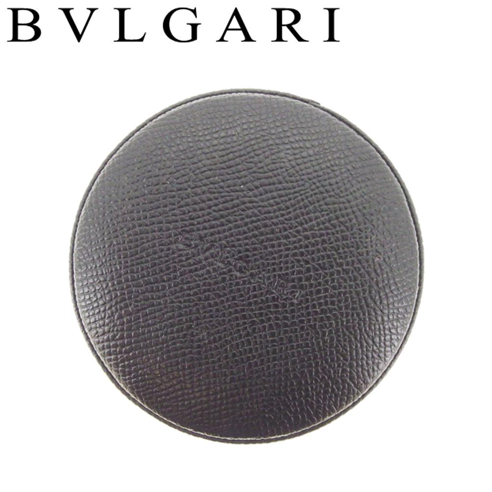 【中古】 ブルガリ BVLGARI 小物入れ アクセサリーケース レディース  ブラック レザー 人気 セール T9049
