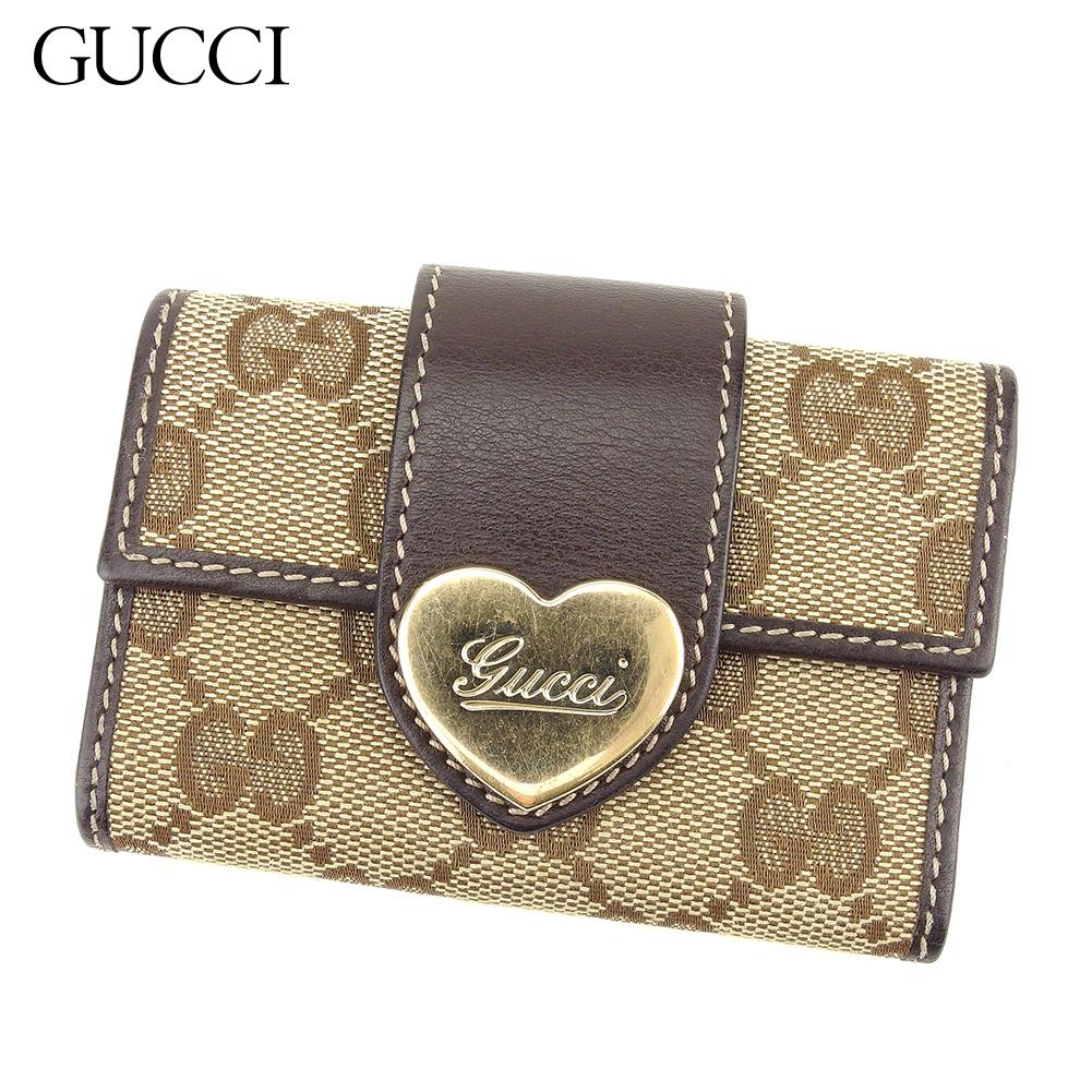 【中古】 グッチ Gucci キーケース 6連キーケース レディース GG柄 ブラウン ベージュ キャンバス×レザー 人気 セール Q551