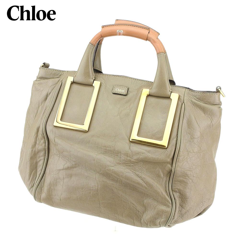 【中古】 クロエ Chloe ハンドバッグ レディース エテル ベージュ レザー 人気 セール S1008