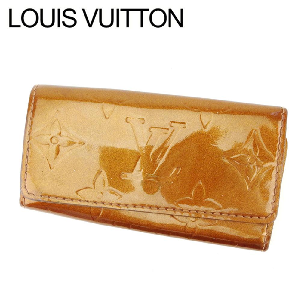 【中古】 ルイ ヴィトン Louis Vuitton キーケース /4連 レディース /ミュルティクレ4 ヴェルニ ブラウン パテントレザ- 人気 セール C2939 .
