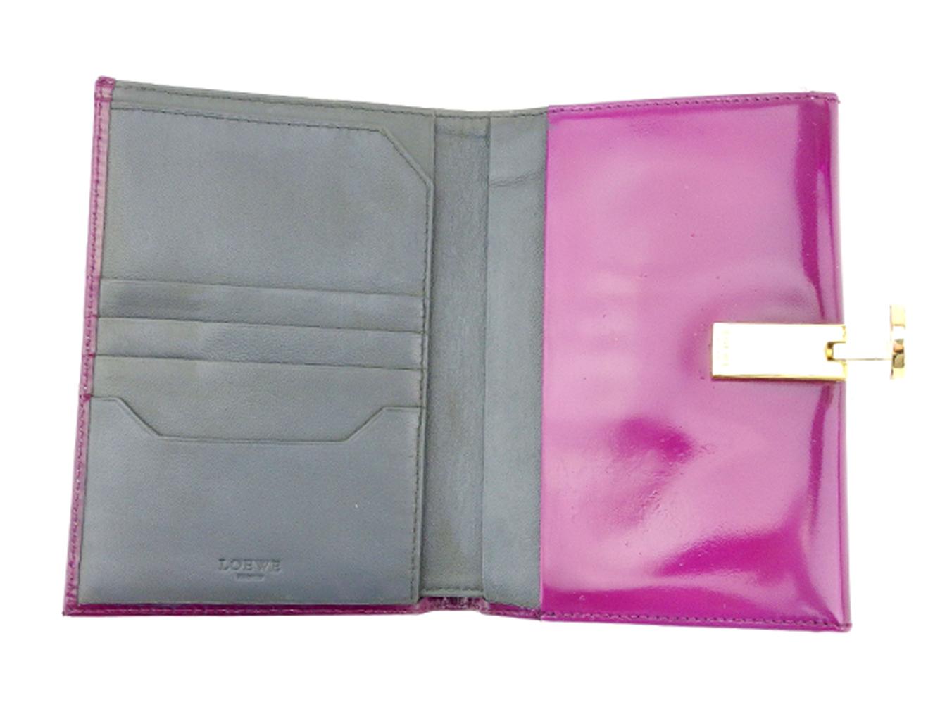 a0e3d0ded779 ロエベ スーパー LOEWE Wホック 財布 二つ折り 財布 メンズ 財布 ...