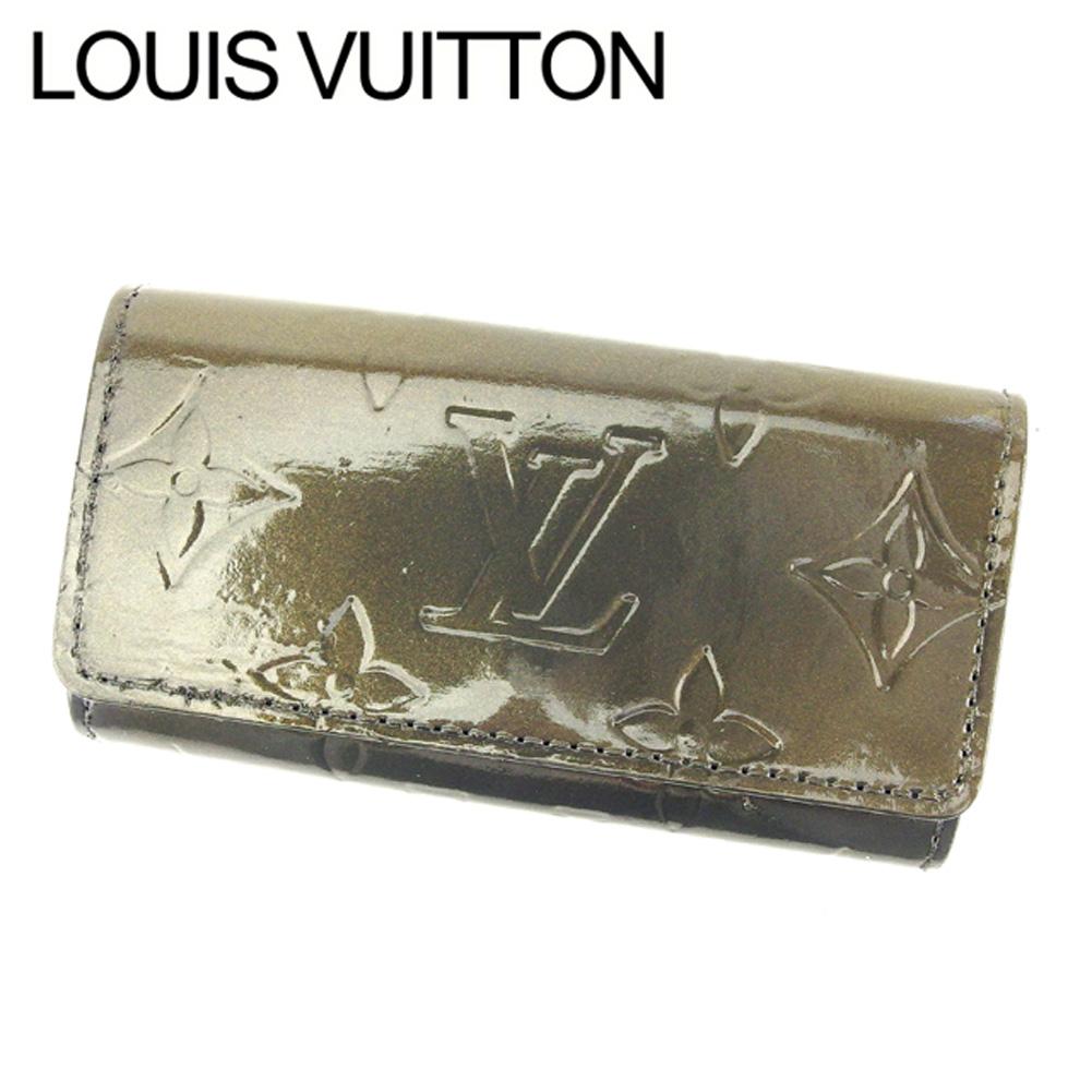 【中古】 ルイ ヴィトン Louis Vuitton キーケース 4連キーケース レディース メンズ モノグラム・マット シルバー パテントレザー 人気 セール L1712 .