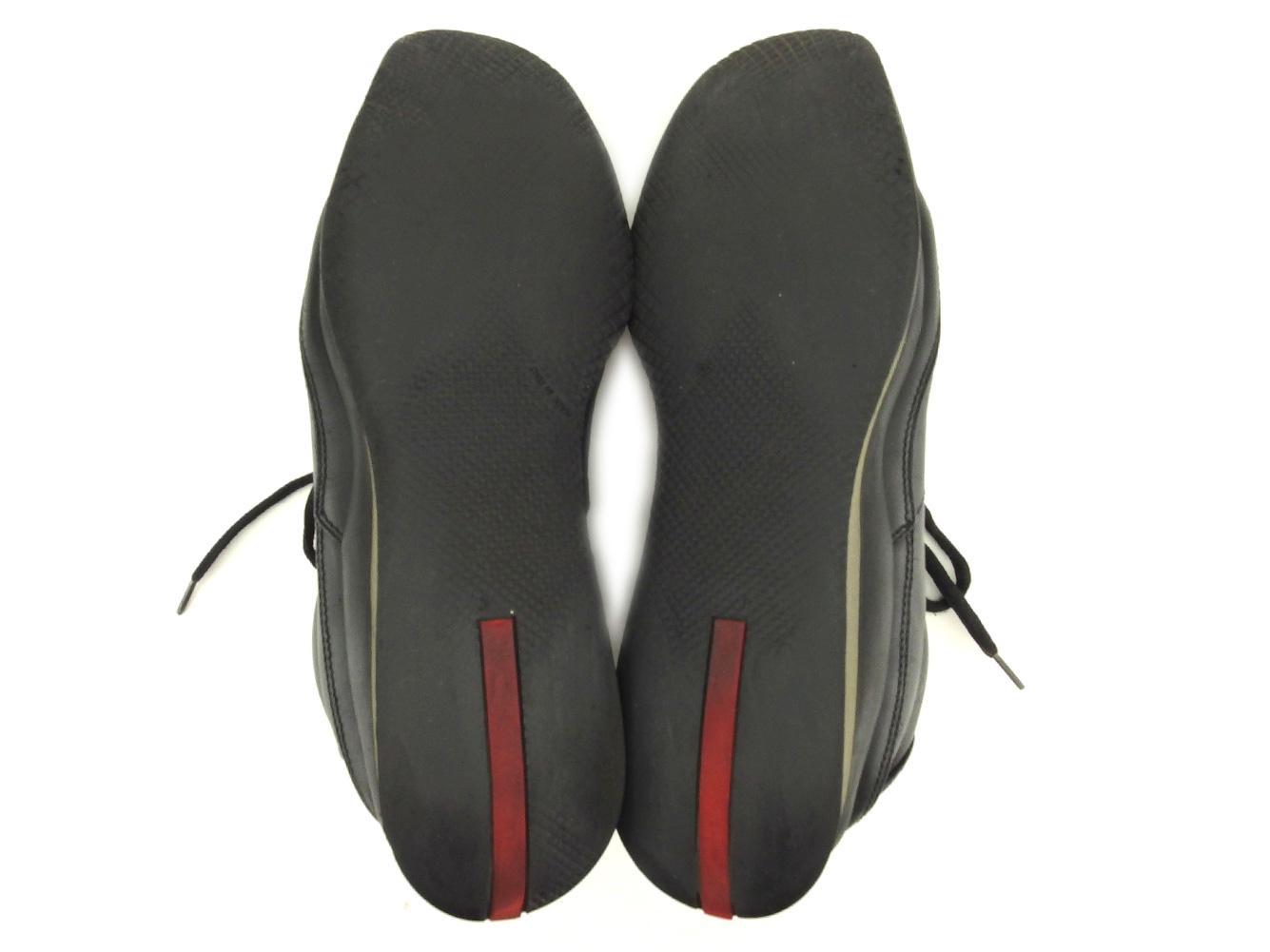 e9161b53f ... Prada PRADA sneakers shoes shoes men black leather popularity sale P837  ...