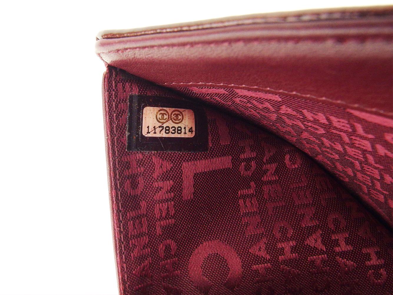 af549daad38c ... シャネルCHANEL二つ折り札入れ二つ折り財布レディースココマークボルドーエナメルレザー ...