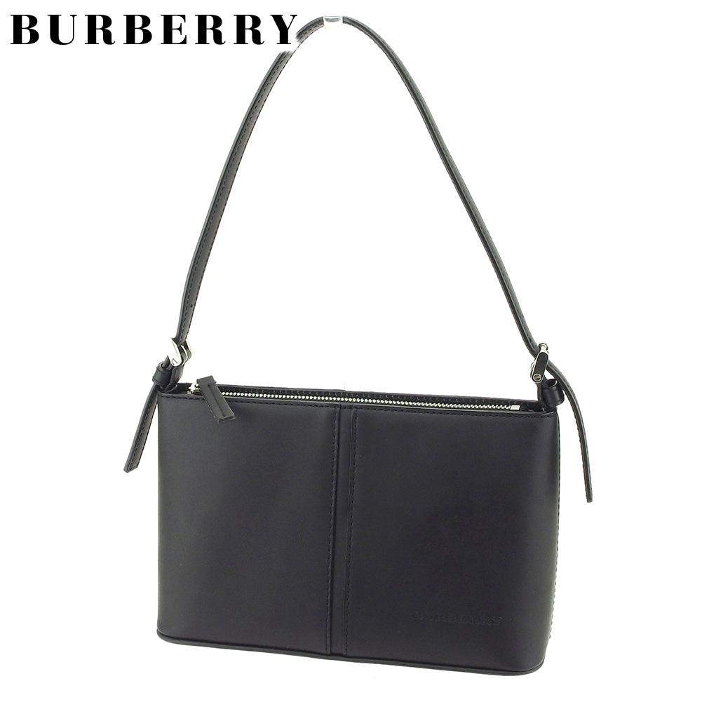 33973a651981 Burberry BURBERRY shoulder bag one shoulder Lady s Novacek black leather-free  article sale T9167