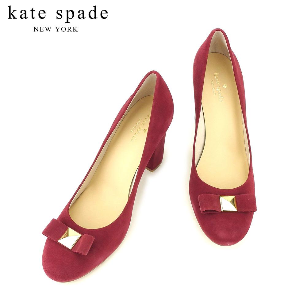 【中古】 ケイト スペード kate spade パンプス シューズ 靴 レディース #10 ボルドー スエード T9244