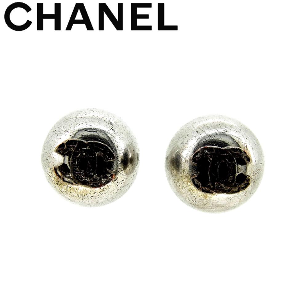 【中古】 シャネル CHANEL ピアス アクセサリー レディース メンズ ココマーク シルバー シルバー金具 人気 セール C3542