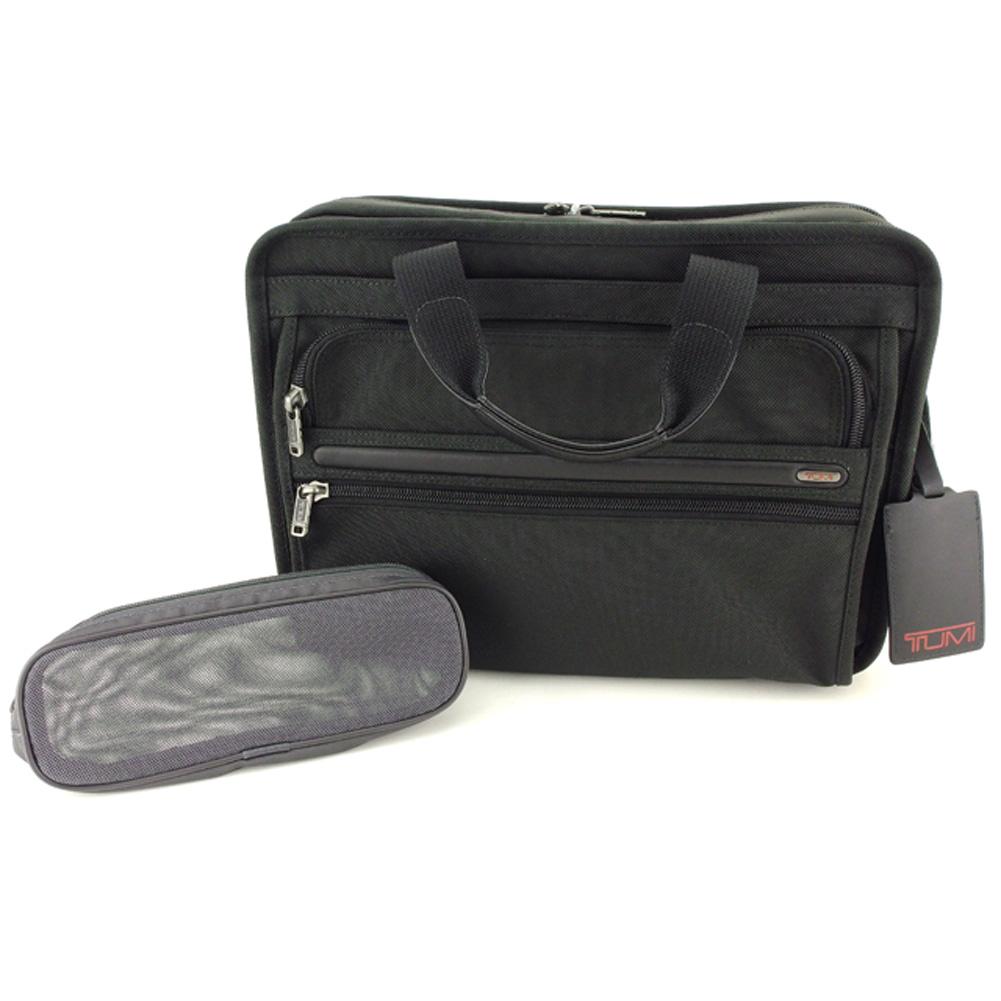 【中古】 トゥミ TUMI ビジネスバッグ ブリーフケース レディース メンズ  ブラック ナイロン 人気 良品 L2706
