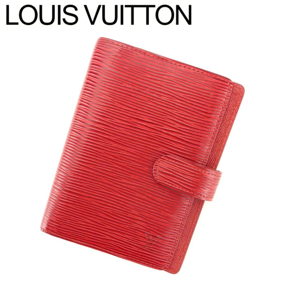【中古】 ルイ ヴィトン LOUIS VUITTON 手帳カバー カード入れ×3 レディース メンズ アジェンダPM レッド エピレザ- L2707