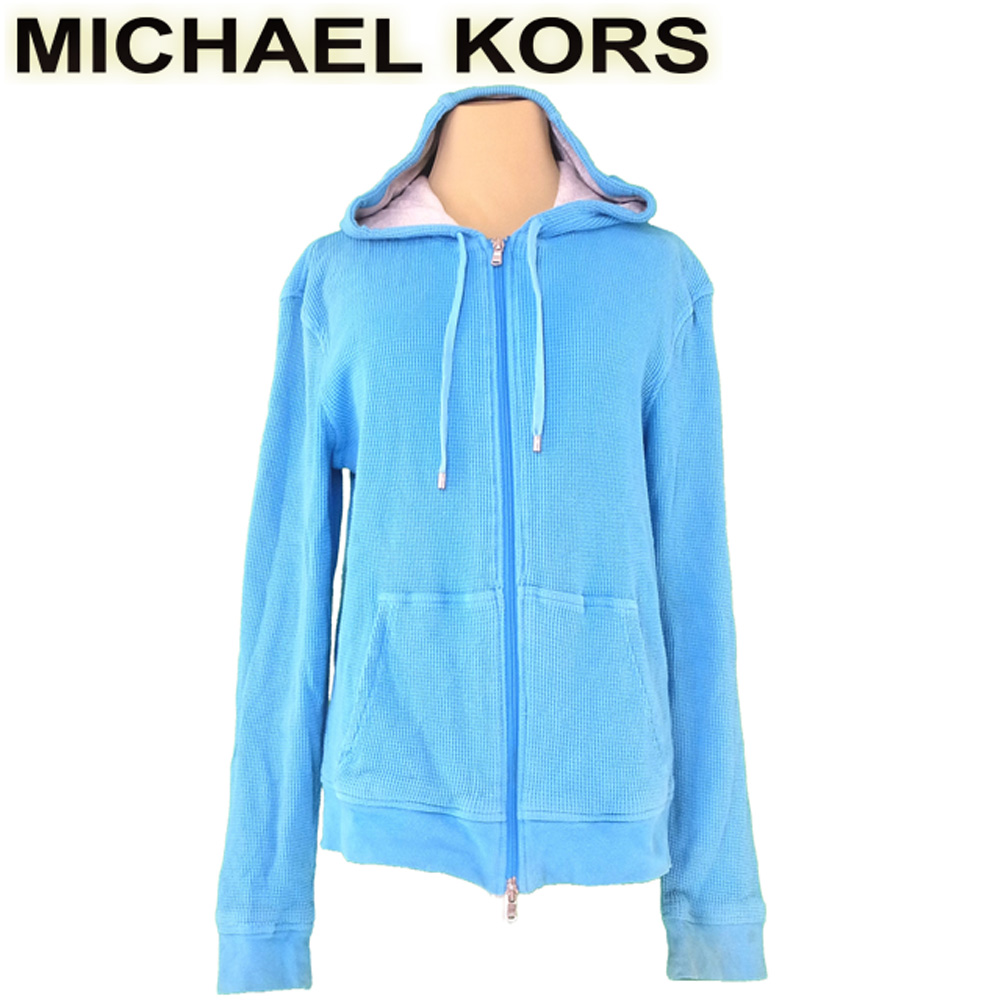 88b554d5 Cloth for Michael Kors MICHAEL KORS parka full zip long sleeves Lady's ♯  small size waffle blue gray gray silver cotton cotton popularity sale ...