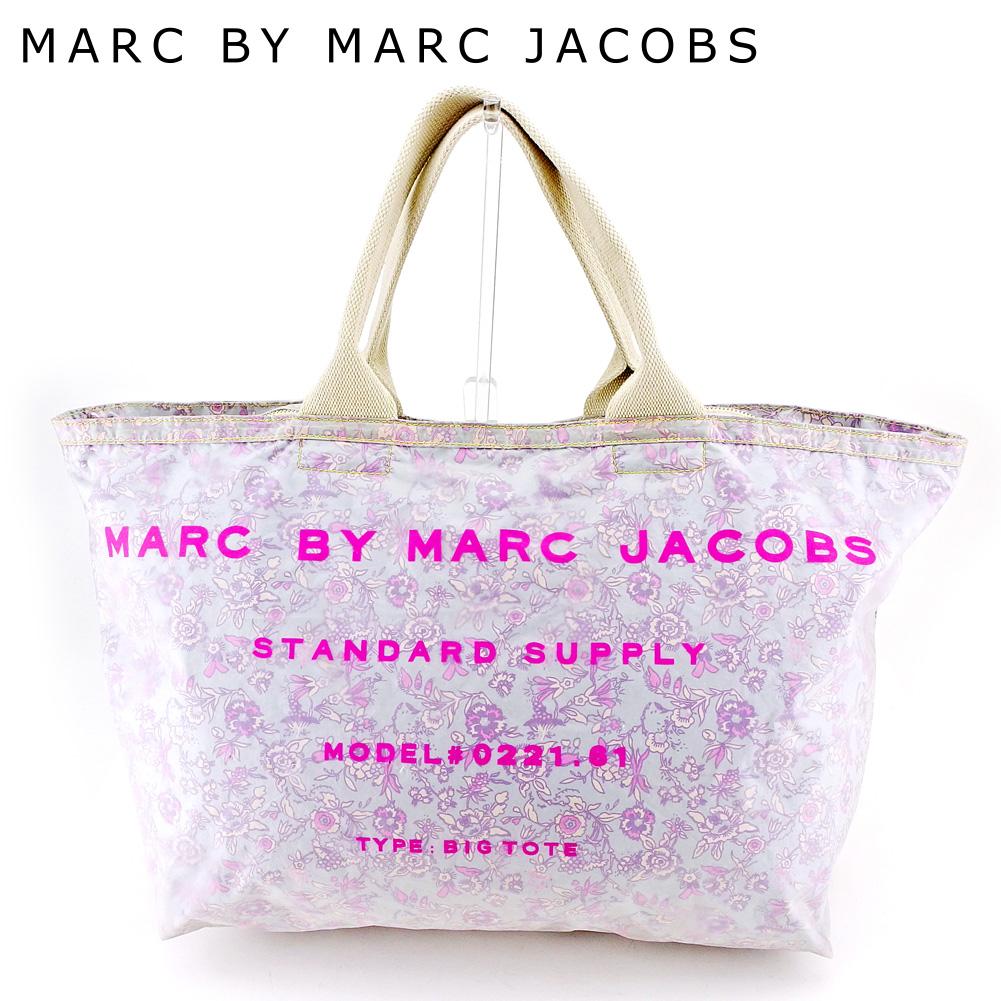 e52b35a41ef3 Mark by mark Jacobs MARC BY MARC JACOBS tote bag handbag Lady s flower blue  pink beige vinyl X canvas popularity sale L2765