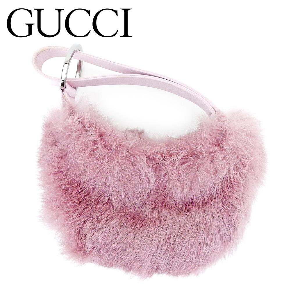 efe88b6af1a Gucci Gucci handbag porch party bag lady pink fur super beauty product sale  T9539.