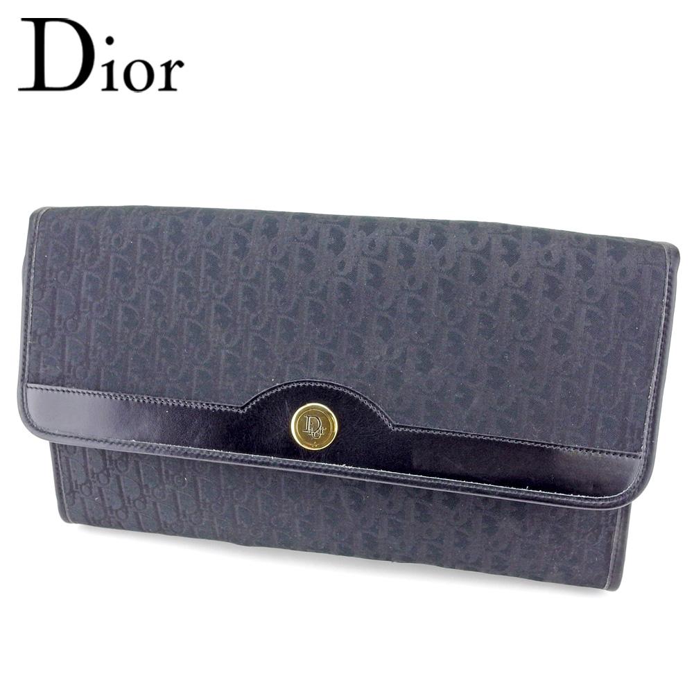 eafec75fec5323 Dior Dior clutch bag second bag Lady's men trotteur black canvas X leather  popularity quality goods T9580