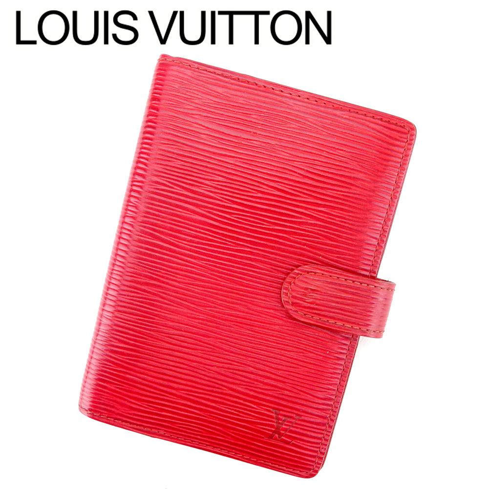 【中古】 ルイ ヴィトン Louis Vuitton 手帳カバー システム手帳 レディース メンズ アジェンダPM レッド ゴールド エピレザー T9456