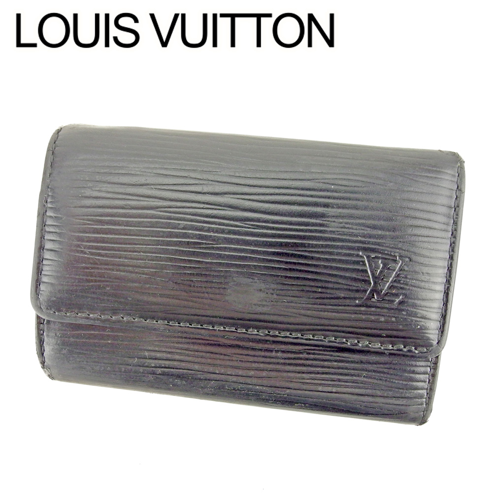 【中古】 ルイ ヴィトン LOUIS VUITTON キーケース 6連キーケース レディース メンズ /ミュルティクレ6 エピ ブラック エピレザ- 人気 セール T8897 .