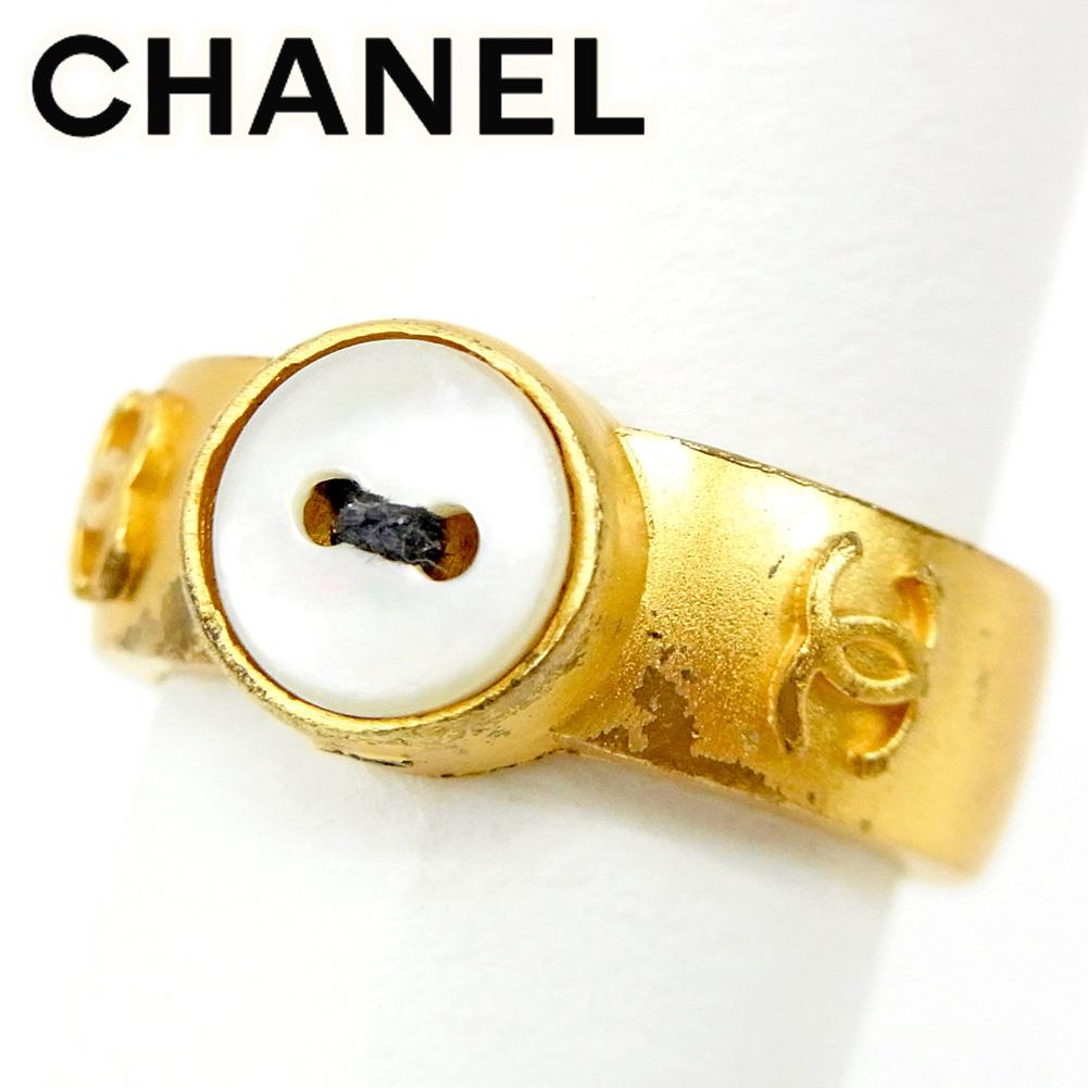 【ニューイヤーセール】 【20%オフ】 【中古】 シャネル CHANEL 指輪 リング レディース #13号 ゴールド T9474