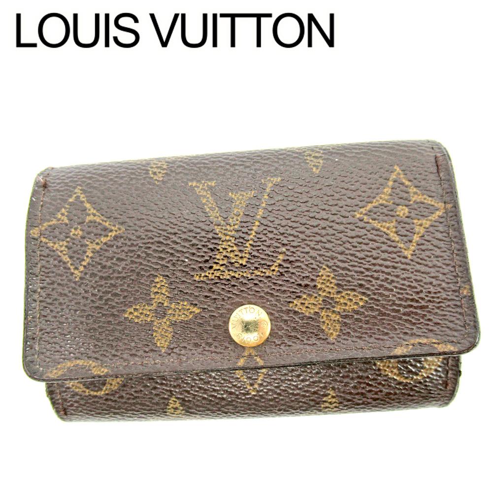 【中古】 ルイ ヴィトン Louis Vuitton キーケース 6連キーケース レディース メンズ ミュルティクレ6 ブラウン モノグラムキャンバス E1445