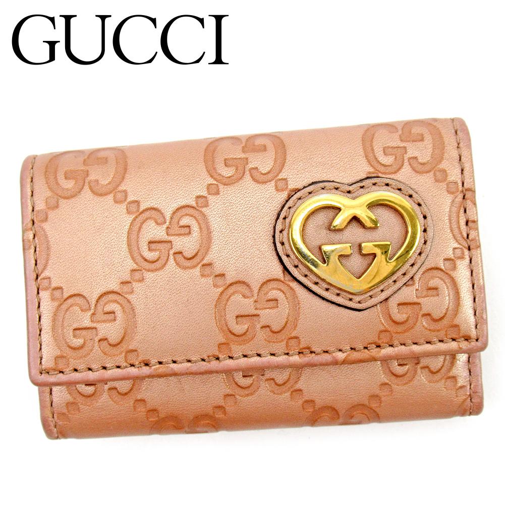 【中古】 グッチ Gucci キーケース 6連キーケース レディース  ピンク レザー 人気 セール G1466